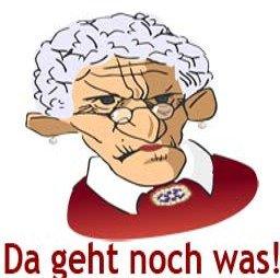 Alte Frau Grafik mit Text: Da geht noch was