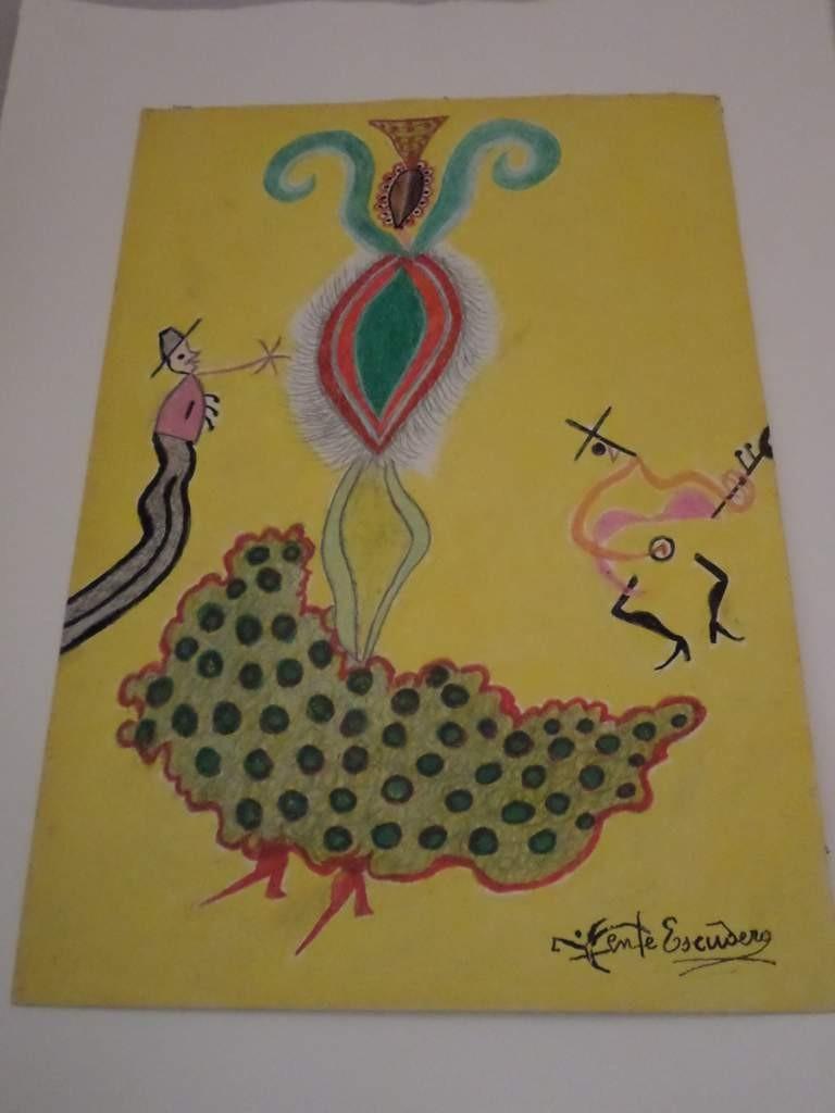 Zeichnung Castagnetten Tänzerin