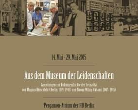 Plakat Humboldt Uni Museum der Leidenschaften