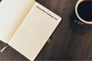 Kaffee & Notizbuch mit Titel Nische Seiten-Challenge 2016