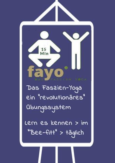Flipcharttext: Fayo Faszien Yoga kennenlernen