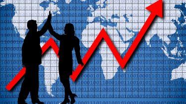 Grafik rent a manager Geschäftserfolg